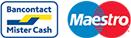 Bancontact en Maestro logo